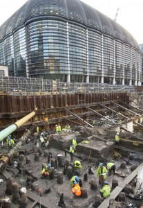 Bloomberg Place excavation