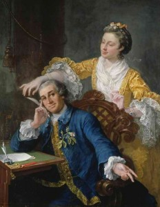 William Hogarth, David Garrick and his Wife, Eva-Maria Veigel, 1757-64. Image copyright of Royal Collection Trust/c Her Majesty Queen Elizabeth II 2013 used with permission. All rights reserved.