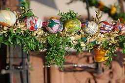 Easter eggs are a pagan symbol of spring and renewal. They are also a part of the easter traditions of Christians due to their prohibition at Lent