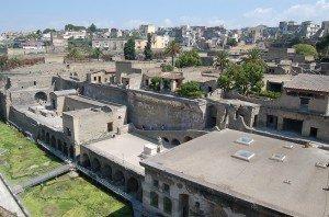 view of herculaneum-suburban baths at forefront.