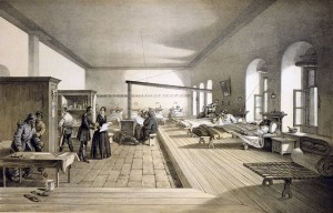 Florence Nightingale instituted sanitation measures at the British Army hospital at Scutari, Turkey (seen here) that improved patients survival. Credit: Wiki Commons
