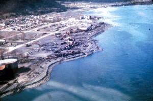 Damage after 1964's Alaska earthquake. Image credit: USGS