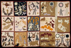 Shown here is one of Harriet Powers' beautiful works of art - a Bible Quilt. Image courtesy of Dcoetzee.