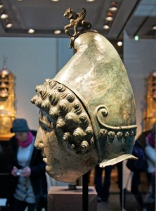 The Crosby Garrett helmet on display at the British Museum. Image copyright Paris Franz