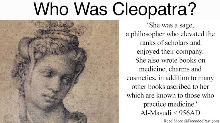 Cleopatra VII: Alchemist, Scientist and Philosopher