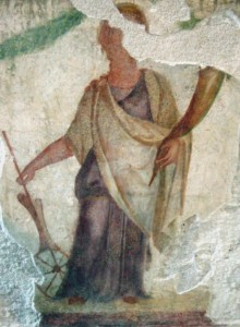 Fresco of the Goddess Fortuna. Archaeological Museum of Milan. Copyright:  Giovanni Dall'Orto,