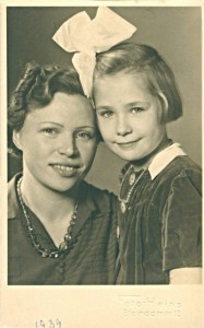 Ingrid and Maria, her mother, when the war began in 1939