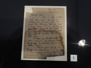 This is the last letter of Roland Gerard Garvin. Image Frances Spiegel 2014. All rights reserved.