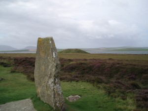 Salt Knowe viewed from the Ring of Brodgar Orkney World Heritage site. Photo credit Val Williamson PhD.
