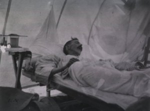An American soldier recovers from yellow fever during the Spanish American War. The disease killed more soldiers than Spanish bullets. Credit: National Library of Medicine