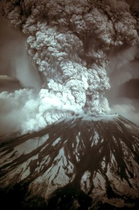 Tambora was two orders of magnitude larger than the 1980 eruption if Mount St Helen's. Image: USGS
